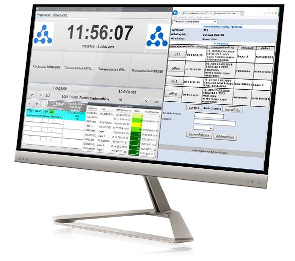 Ein Computer zeigt cronetwork Traceability
