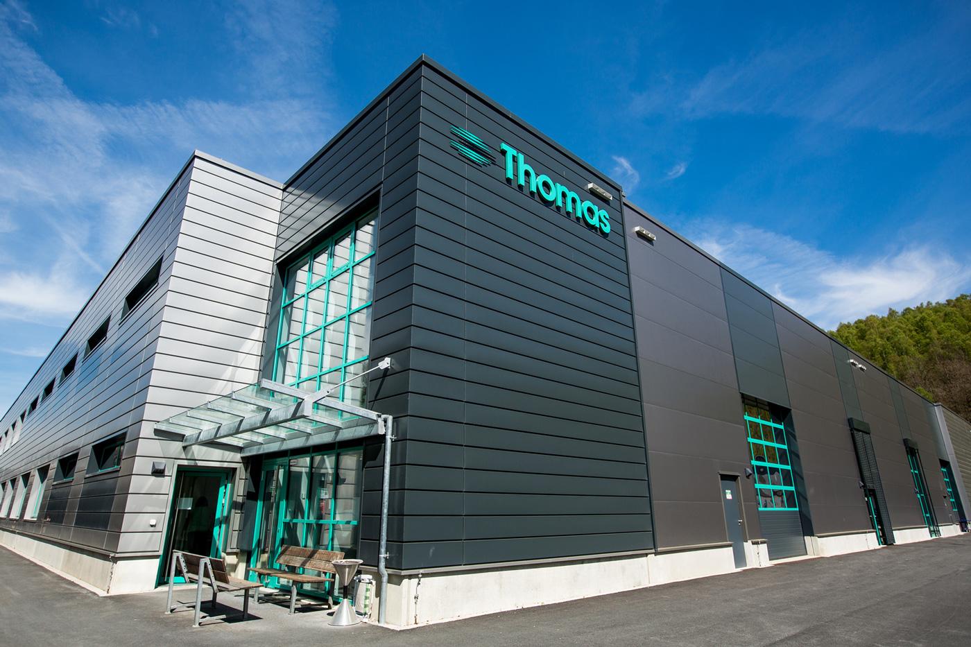 Thomas Magnete Firmengebäude von außen