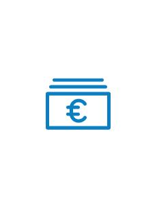 euro icon blau