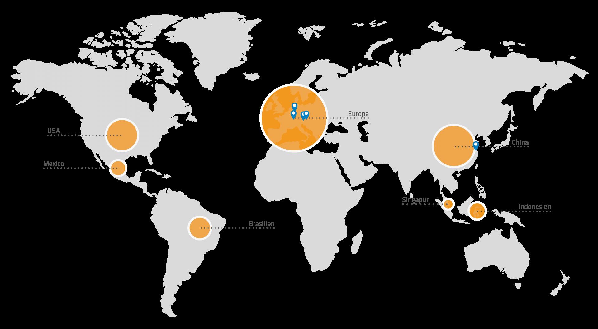 Landkarte Industrie Informatik Kunden