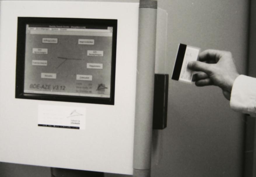 Ein Industrie Informatik Terminal im Jahr 1992