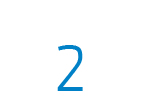 Die Zahl 2 in blau