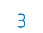 Die Zahl 3 in blau