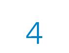 Die Zahl 4 in blau