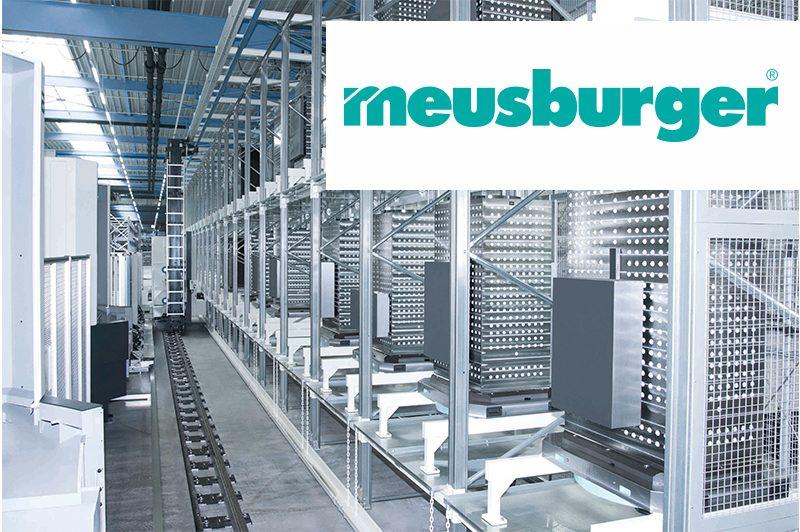 meusburger Produktion und Logo