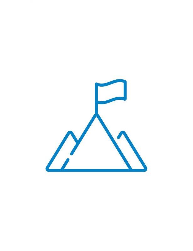 berg icon blau