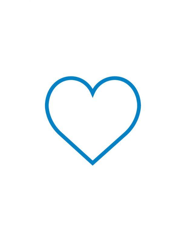 Herz Icon blau