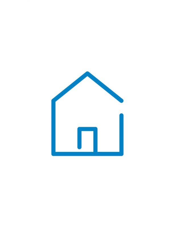 haus icon blau