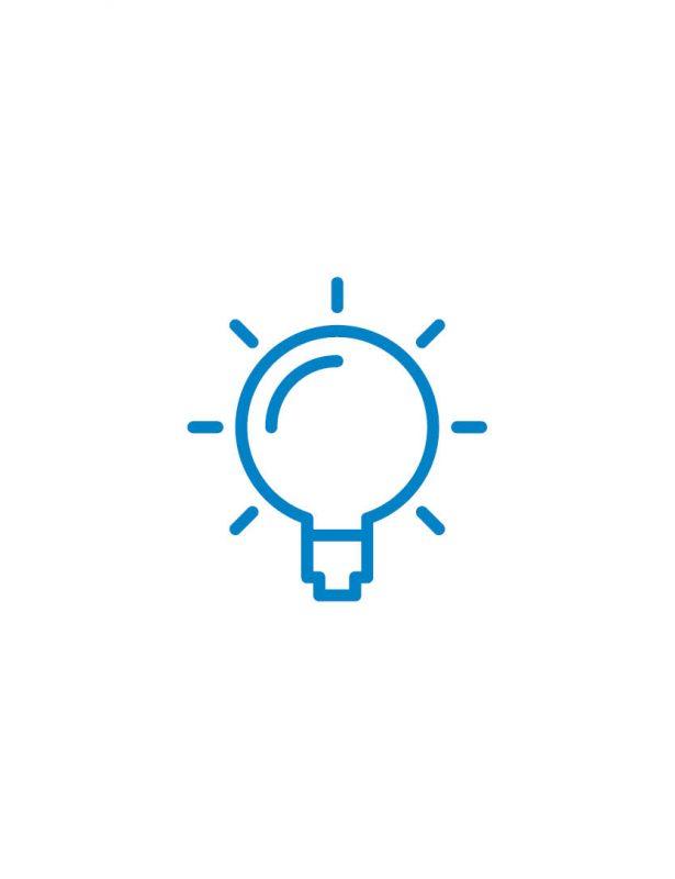 glühbirne icon blau