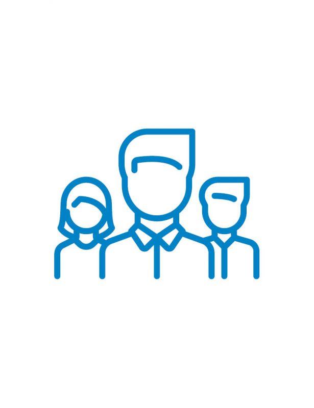 menschen icon blau