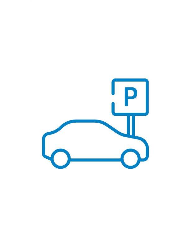 parkplatz icon blau