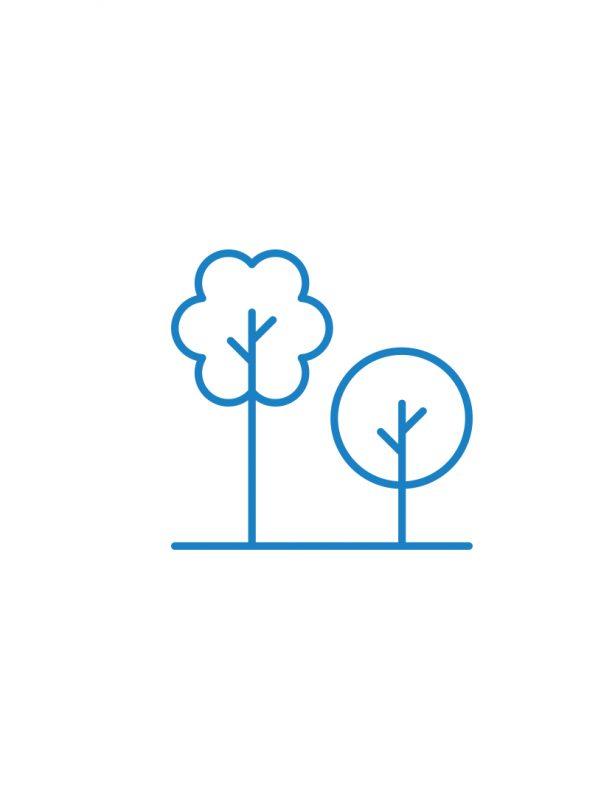 bäume icon blau