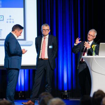 Markus Maier, Thomas Krainz, Bernhard Falkner am Industrie Informatik Innovationstag 2019