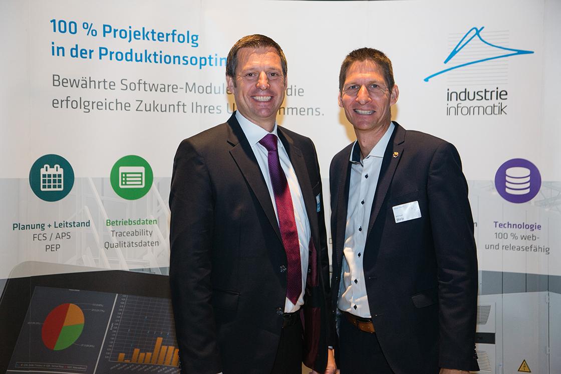 Markus Zalud und Michael Welp von Meyer Werft am Industrie Informatik Innovationstag 2019