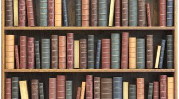 Ein Bücherregal